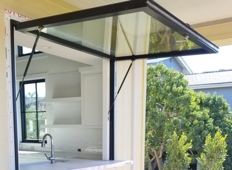 Gas Strut Awning Window USA | Pass Through Push Out Window.
