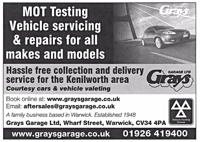 Car service Kenilworth, Kenilworth car servicing and MOT test offer