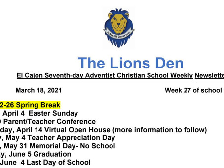 THE LIONS DEN 3/18/2021