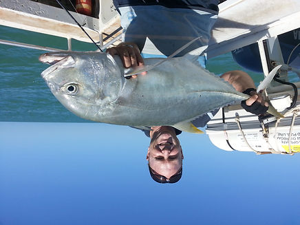 Giant trevally on charter fishing Darwin