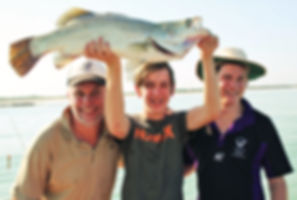 Saltwater barramundi fishing Darwin