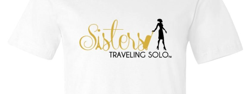 Ladies Sisters Traveling Solo Premium T Shirt - White