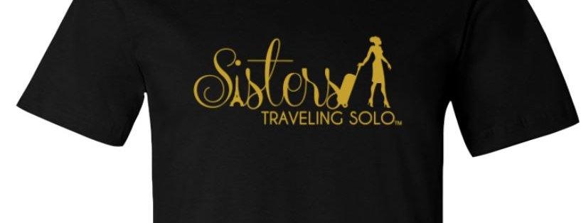 Ladies Sisters Traveling Solo Premium T Shirt - Black