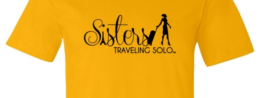 Ladies Sisters Traveling Solo Premium T Shirt - Gold