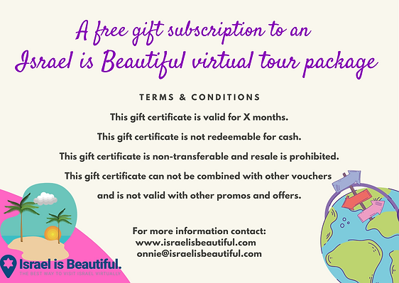 Israel is Beautiful Gift certificate side two.png