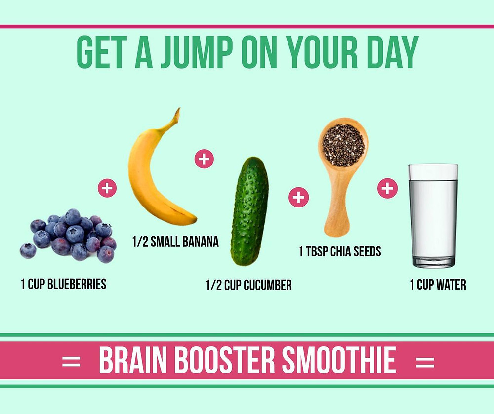 We could all do with some extra brain power! The chia seeds in this smoothie contains essential fats which is so important for brain health!
