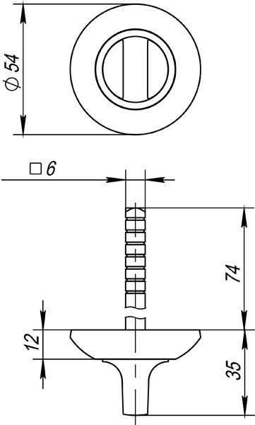 Ручка поворотная BKW6 AR-SN/CP-3 (без ответной части)