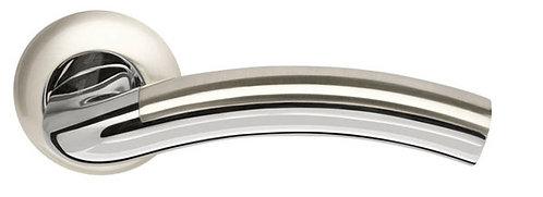 Ручка раздельная Libra LD27-1SN/CP-3 матовый никель/хром