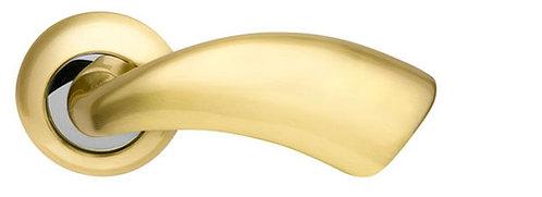 Ручка раздельная Leo LD56-1SG/CP-1 матовое золото/хром