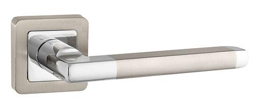 Ручка раздельная PLUTON QR SN/CP-3 матовый никель/хром