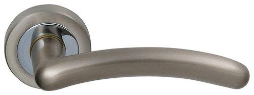 Ручка раздельная Eco (ROSET) матовый никель/ хром