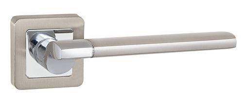 Ручка раздельная GALAXY QR SN/CP-3 матовый никель/хром