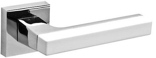 Ручка раздельная FLASH DM CP/WH-19 хром/белый