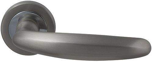 Ручка раздельная ELITE (ROSET) Матовый никель/хром