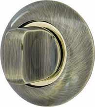 Ручка поворотная WC-BOLT BKW8-1AB/GP-7 бронза/золото, без отв.