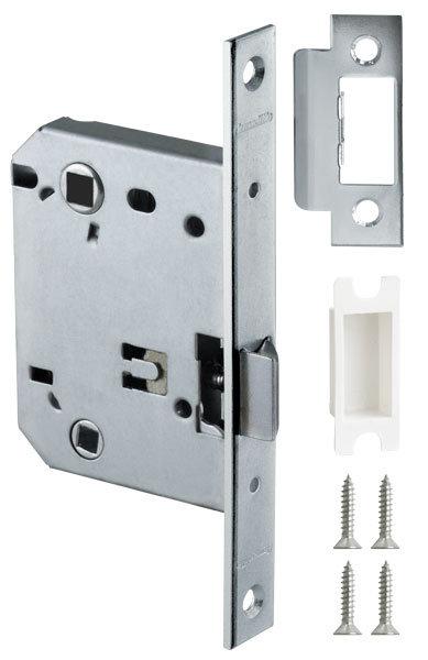 Защелка врезная LH 720-50 CP-8 Хром BOX на 70мм /прям/