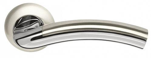 Ручка раздельная Libra LD27-1SN/CP-3 матовый никель/хром TECH (кв. 8х140)