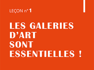 La nouvelle campagne de Com du Réseau des galeries d'art de France.