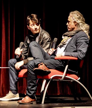 Le réalisateur Alessandro Cartosio venu spécialement de Rome présenter son film sur Kazem Khalil.
