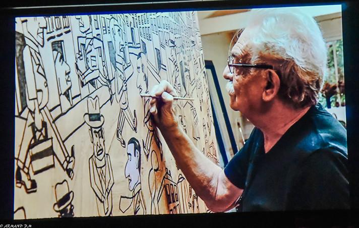 Une image du film sur Antonio Segui réalisé par François Catonné.