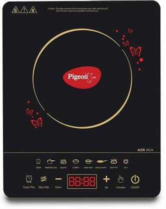 Pigeon Acer plus Induction Cooktop (Black, Touch Panel)