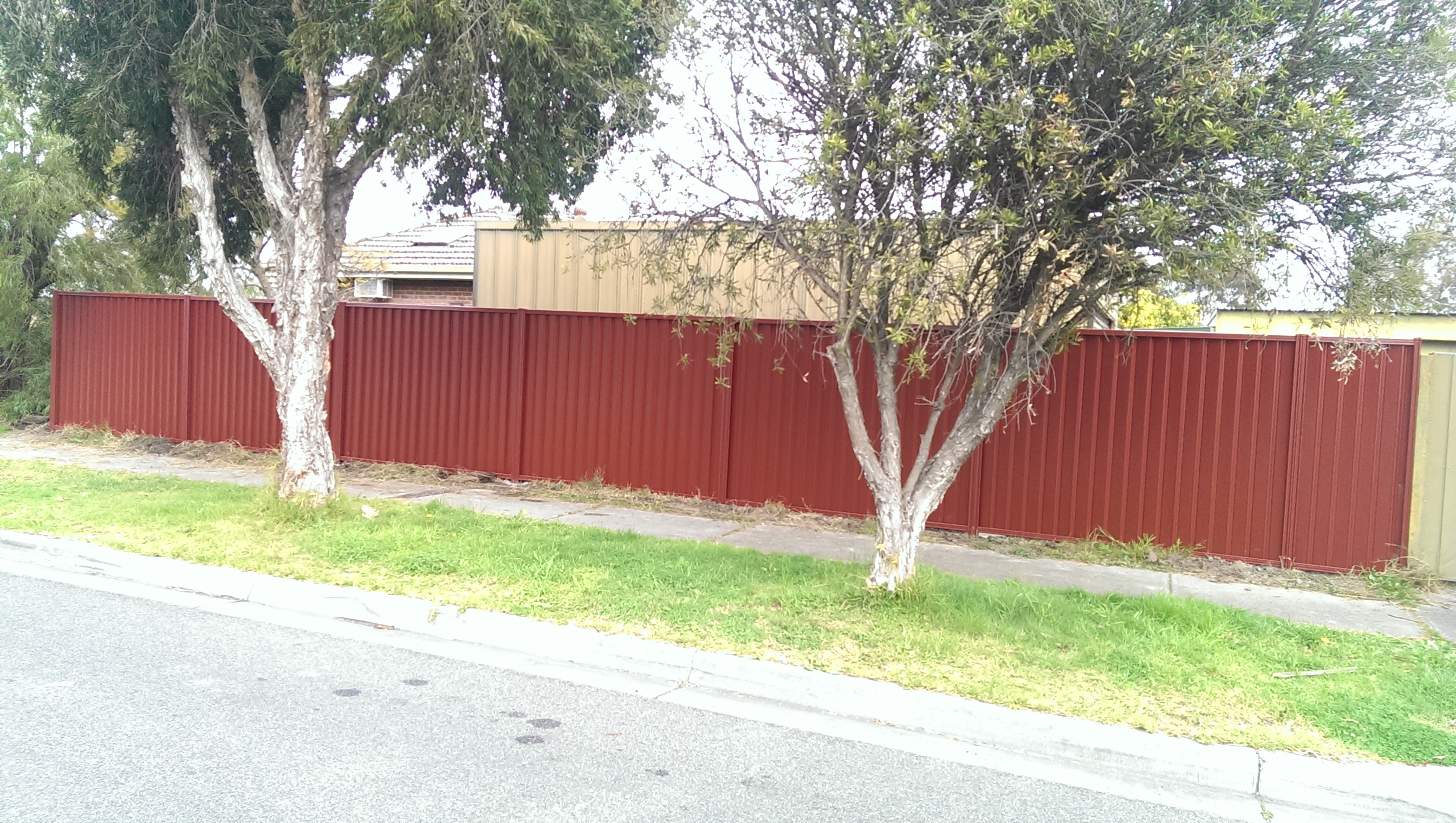 Red Oak Colorbond Fence