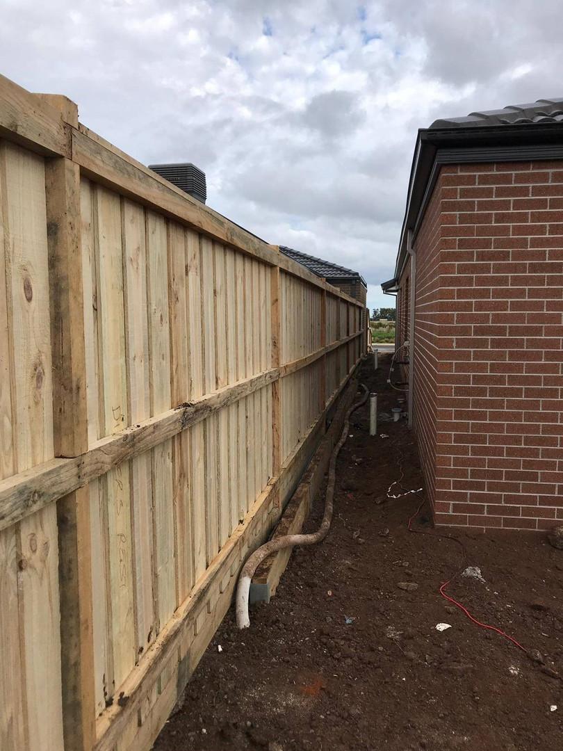 1.95m Timber Paling Fence