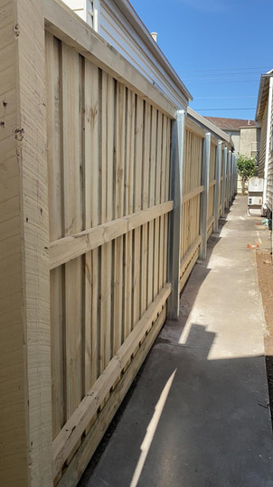Timber Fence and Aussie Steel Post