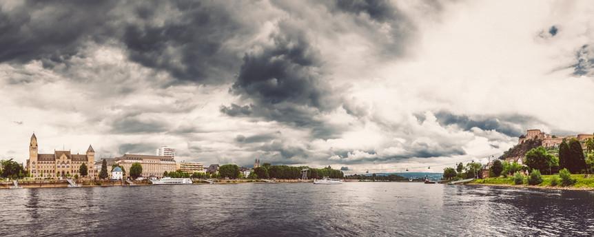 Rhein River in Koblenz, GERMANY