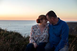 Engagement photo shoot Cornwall