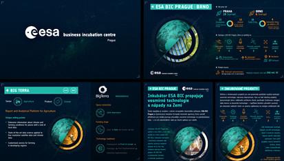 Prezentace a tiskoviny ESA BIC