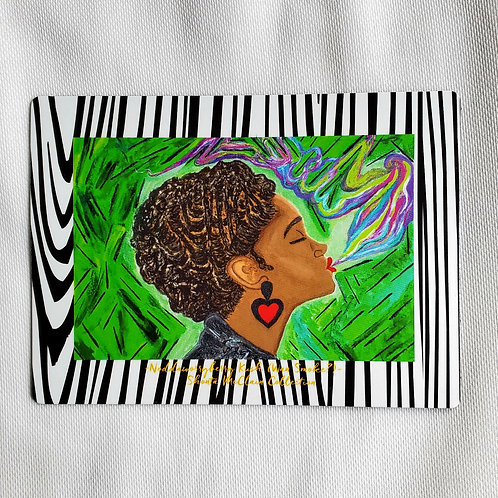 Noddaworryberry Kush (Wan Smoke?) Zebra Print Magnet