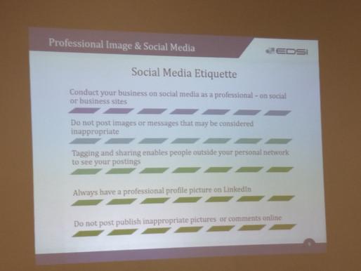 Professional Image and Social Media Etiquette Recap