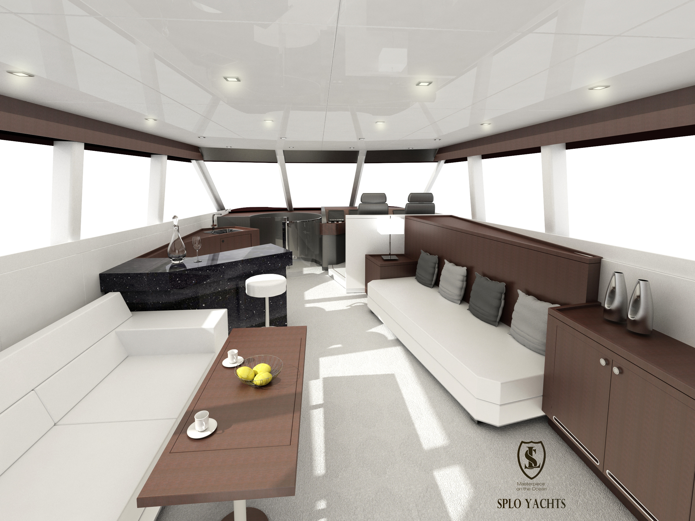 Saloon for 20m Power yacht
