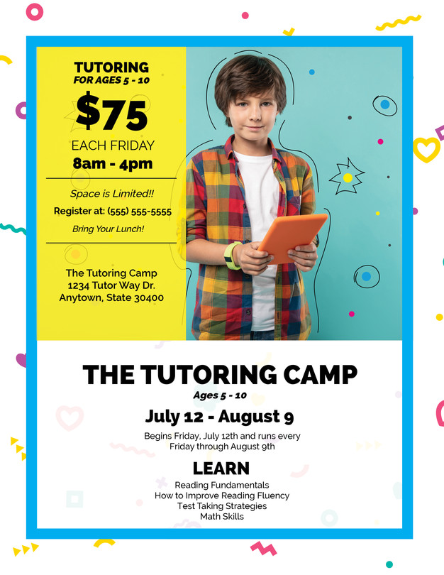 The Tutoring Camp Flyer