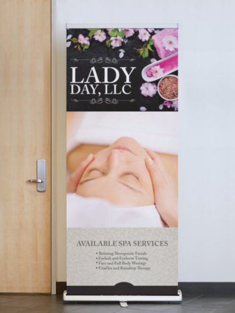 LADY DAY LLC  INDOOR/OUTDOOR BANNER