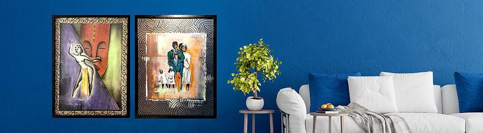 framed art on blue wall.jpg