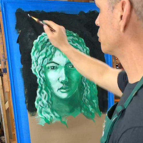 Monochromatic Portrait Painting for Beginners