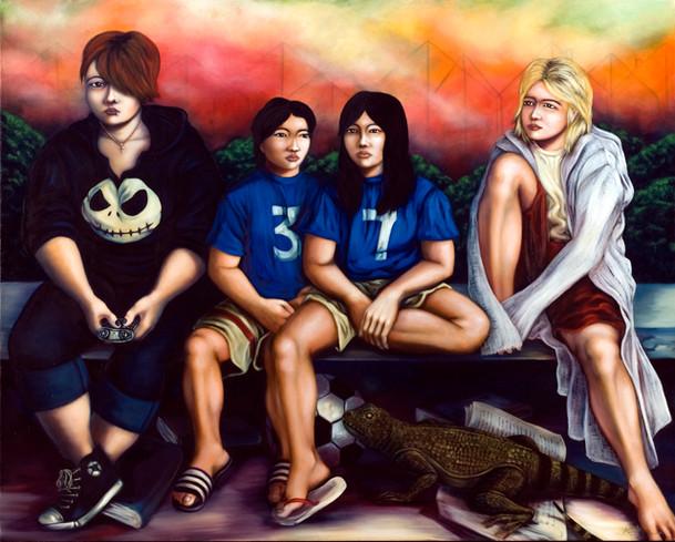 Suburban teenagers