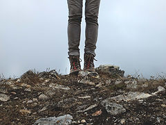 cliff hiking trail hazard boots