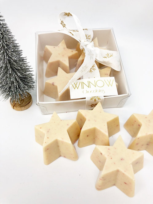 White chocolate stars - box of 4