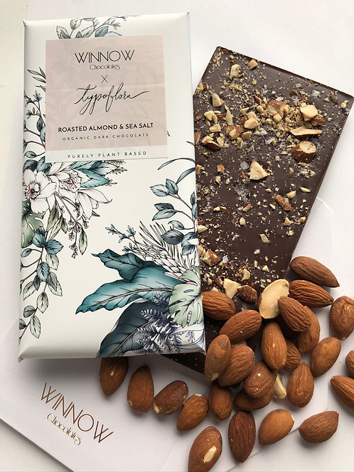 Purely Plant Based - Roasted Almond & Sea Salt chocolate bar