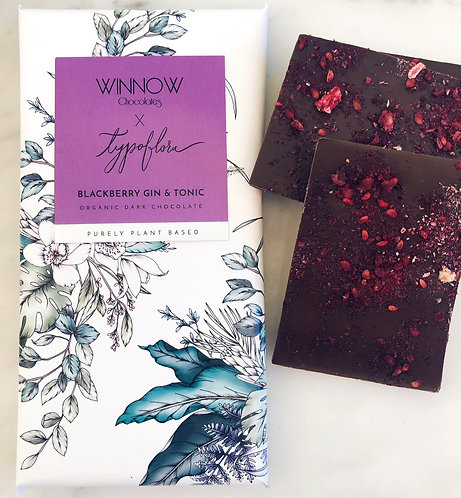 Purely Plant Based - Blackberry Gin & Tonic chocolate bar