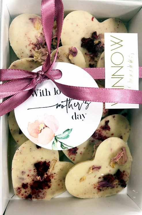 With love on Mother's Day - Raspberry & Rose Petals