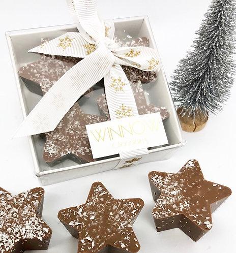 Milk chocolate stars - box of 4
