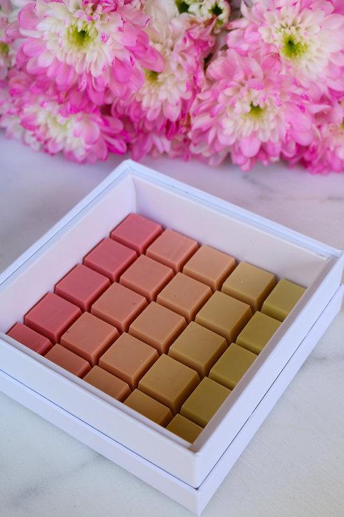Pink Ombrè Cubes | Large Raspberry