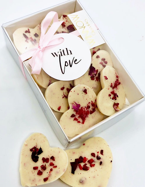 Raspberry & Rose Petal Love Hearts