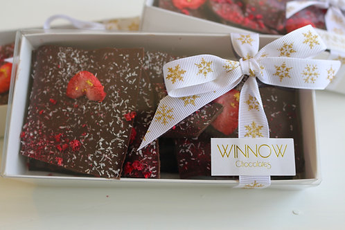 Raspberry, Strawberry & Coconut Brittle Box