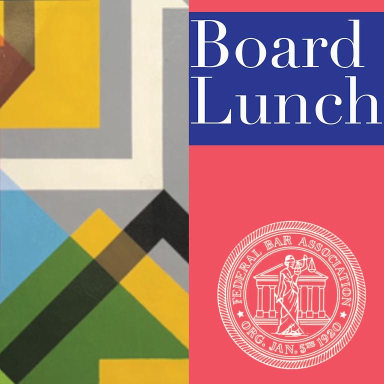 Board Zoom Luncheon - Mar 03