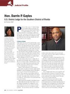 Judicial Profile 2016